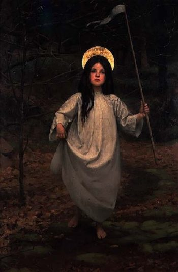 The Flag | Thomas Cooper Gotch | oil painting