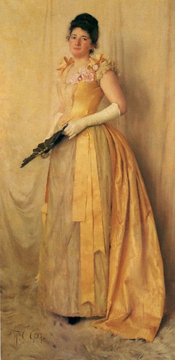 The Lady in Gold | Thomas Cooper Gotch | oil painting
