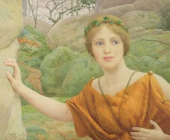 The Nymph | Thomas Cooper Gotch | oil painting