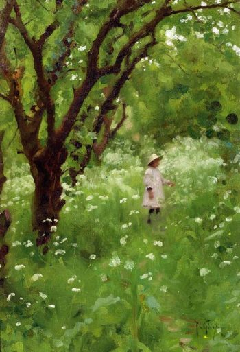 The Orchard | Thomas Cooper Gotch | oil painting
