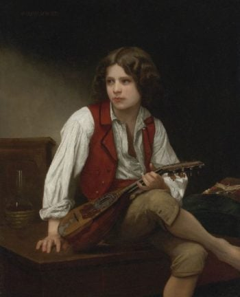Italian Mandolin | William Bouguereau | oil painting