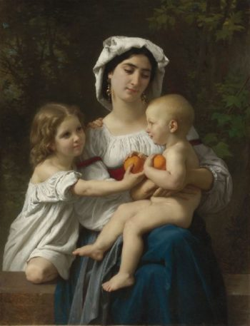 The Oranges | William Bouguereau | oil painting