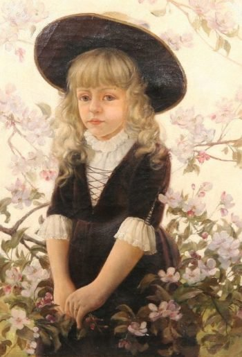 Tina   Charles Courtney Curran   oil painting