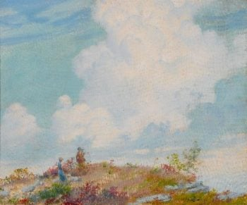 Untitled   Charles Courtney Curran   oil painting