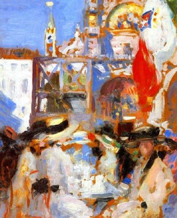 Florians Cafe Venice | Francis Campbell Bolleau | oil painting