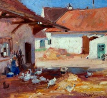 Normandy Farmyard | Francis Campbell Bolleau | oil painting