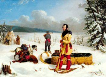 Scene in the Northwest: Portrait of John Henry Lefroy | Paul Kane | oil painting