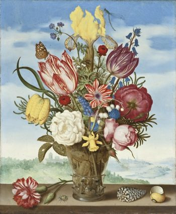 Bouquet Of Flowers on a Ledge | Ambrosius Bosschaert | oil painting