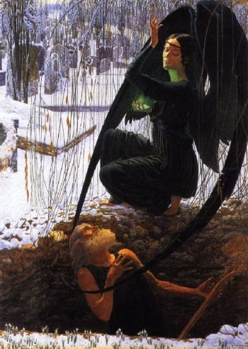 The Grave Diggers Death | Carlos Schwabe | oil painting