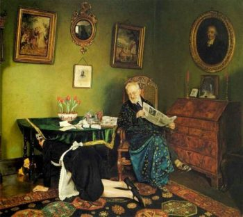 She Stoops to Conquer | Charles Spencelayh | oil painting
