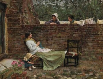 Gossip | John William Waterhouse | oil painting