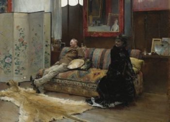 Gustave Courtois in his Studio   Pascal Dagnan Bouveret   oil painting