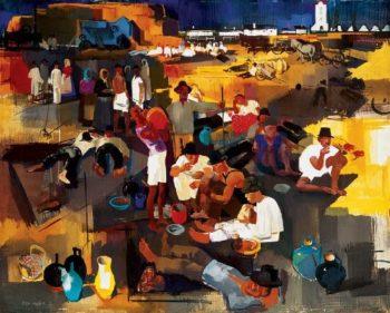 Deli piheno | Vilmos Aba Novak | oil painting