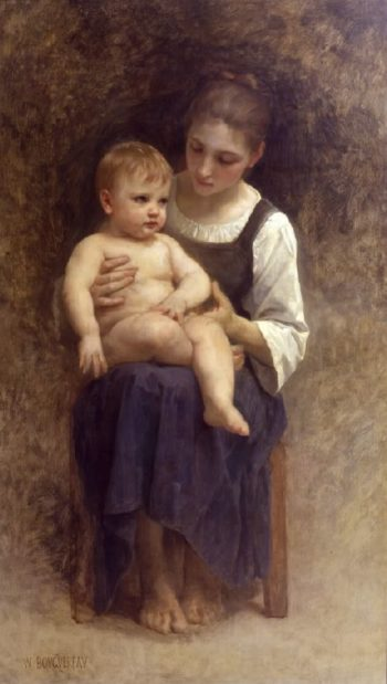 Unfinished painting | William Bouguereau | oil painting