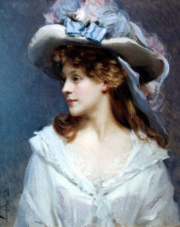 Woman in White | Raimundo de Madrazo y Garreta | oil painting