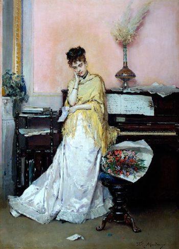 The Bouquet | Raimundo de Madrazo y Garreta | oil painting
