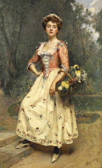 Spring Beauty | Raimundo de Madrazo y Garreta | oil painting