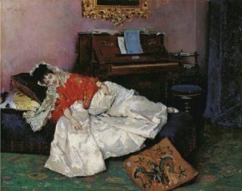 Reading | Raimundo de Madrazo y Garreta | oil painting