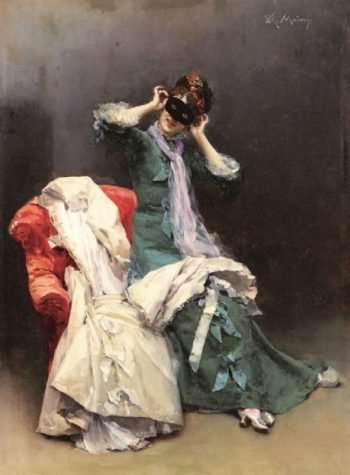 Preparing for the Costume Ball | Raimundo de Madrazo y Garreta | oil painting