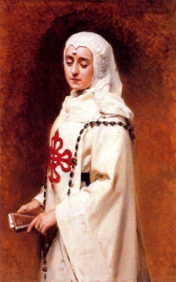 Portrait of Maria Guerrero in Dona Ines | Raimundo de Madrazo y Garreta | oil painting