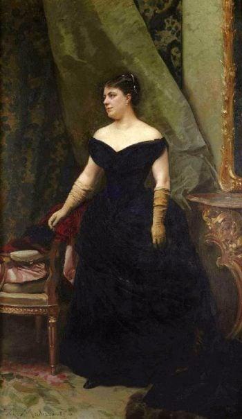 Portrait of madame Isaac Hirsch Kann nee Koenigswarter | Raimundo de Madrazo y Garreta | oil painting
