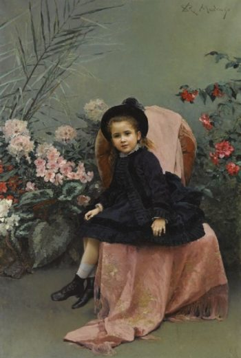 Portrait of a Mercedes de Heeren | Raimundo de Madrazo y Garreta | oil painting