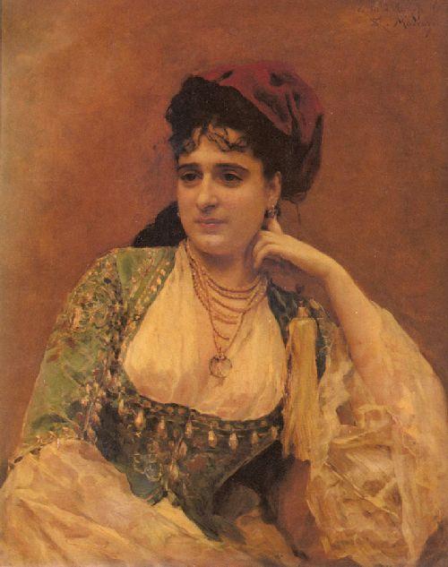 Portrait Of A Lady | Raimundo de Madrazo y Garreta | oil painting