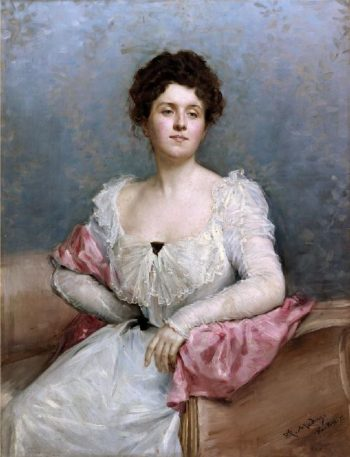 Portrait of a lady | Raimundo de Madrazo y Garreta | oil painting