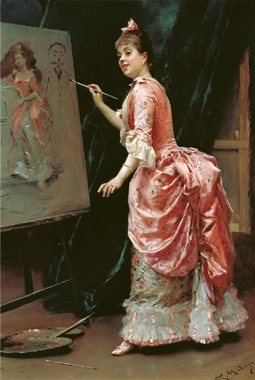 Mischievous Model | Raimundo de Madrazo y Garreta | oil painting
