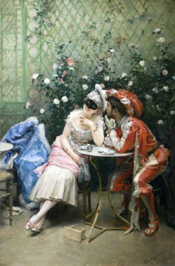 Masqueraders | Raimundo de Madrazo y Garreta | oil painting