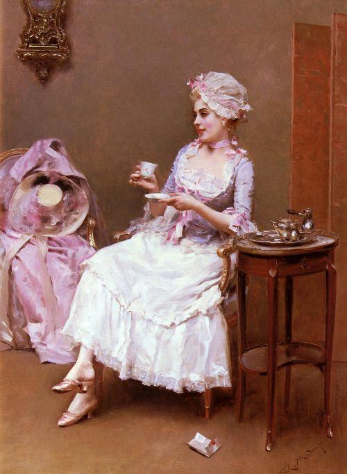 Hot Chocolate | Raimundo de Madrazo y Garreta | oil painting