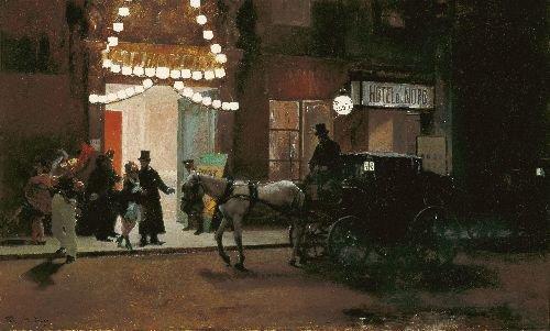 Going out of the masquerade | Raimundo de Madrazo y Garreta | oil painting