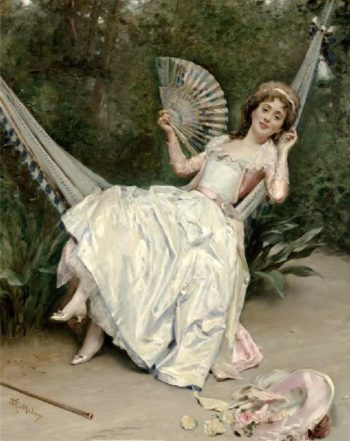 Girl in the Hammock | Raimundo de Madrazo y Garreta | oil painting