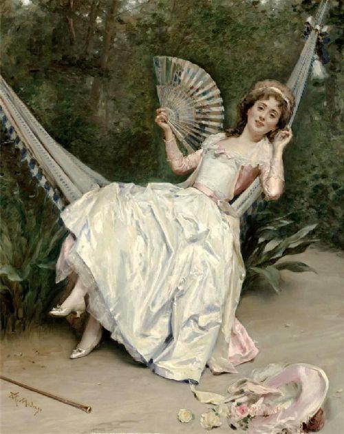 Girl in the Hammock | Raimundo de Madrazo y Garreta | oil painting