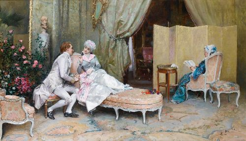 Flirtation | Raimundo de Madrazo y Garreta | oil painting