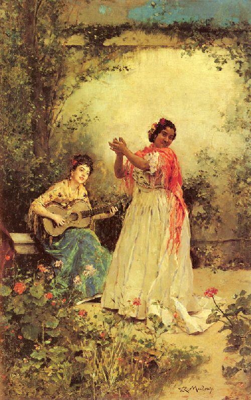 Bella y Canto | Raimundo de Madrazo y Garreta | oil painting