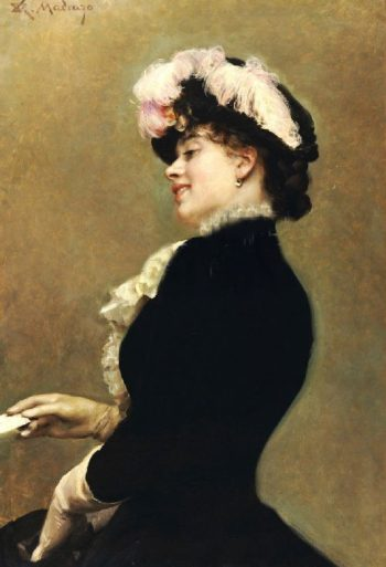 An Elegant Beauty | Raimundo de Madrazo y Garreta | oil painting
