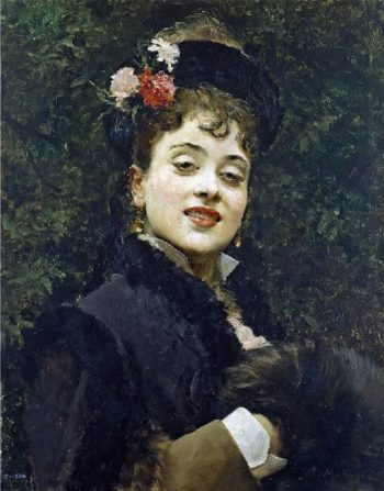 Aline Masson the Artists Wife | Raimundo de Madrazo y Garreta | oil painting