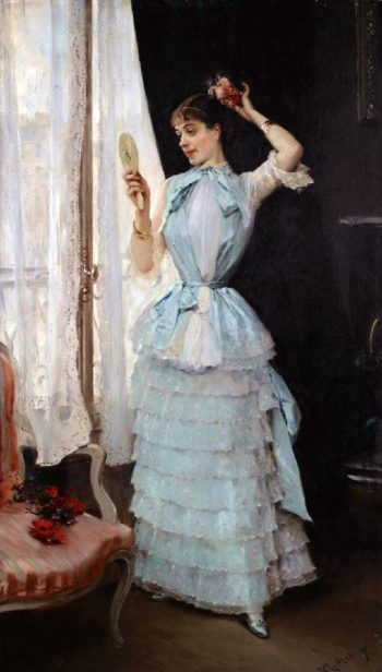 Aline at her toilette | Raimundo de Madrazo y Garreta | oil painting