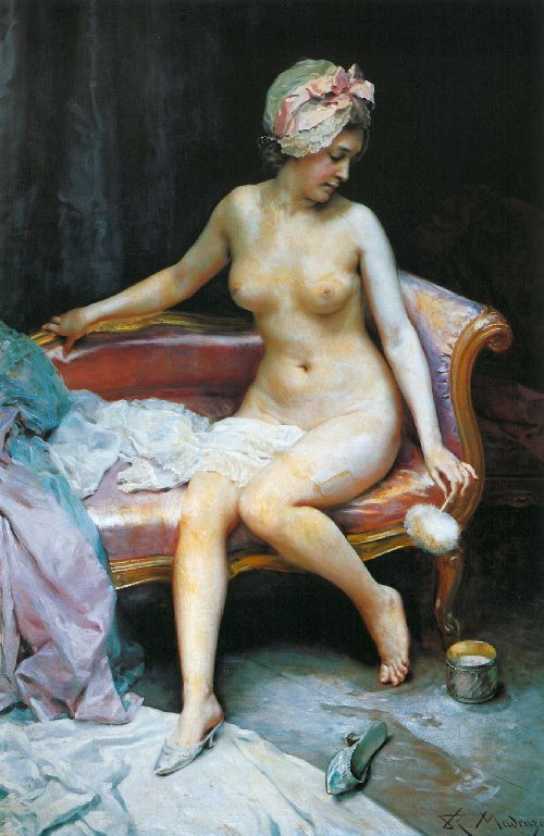 After the bath | Raimundo de Madrazo y Garreta | oil painting