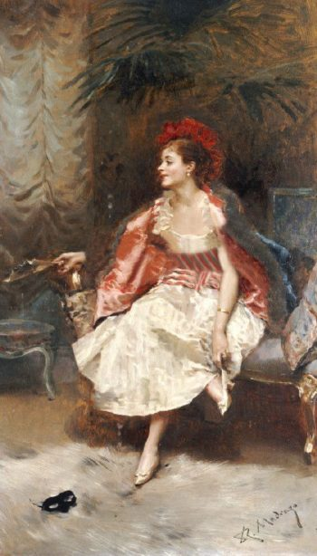 After The Ball | Raimundo de Madrazo y Garreta | oil painting