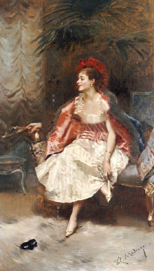 After The Ball | Raimundo de Madrazo y Garreta | oil painting