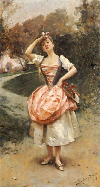 A Country Maid | Raimundo de Madrazo y Garreta | oil painting