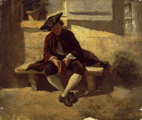 Young Man with a Book   Jean Louis Ernest Meissonier   oil painting