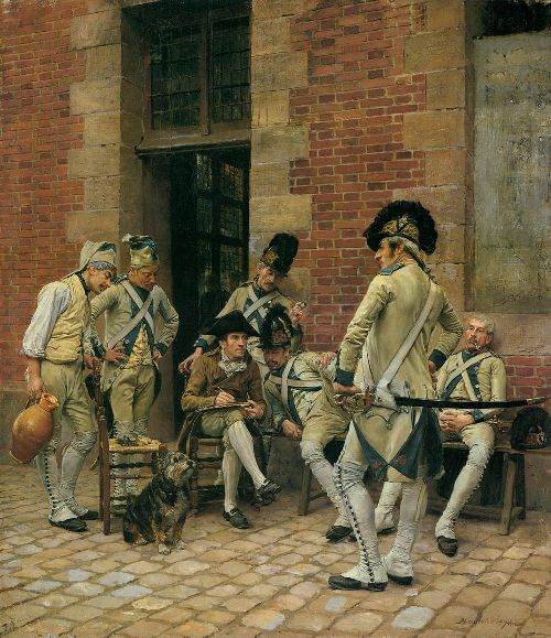 The Sergeants Portrait | Jean Louis Ernest Meissonier | oil painting