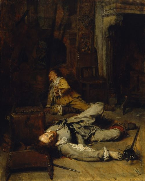 The End of the Game of Card | Jean Louis Ernest Meissonier | oil painting