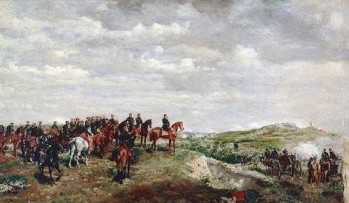 The Emperor Napoleon III at the Battle of Solferino   Jean Louis Ernest Meissonier   oil painting