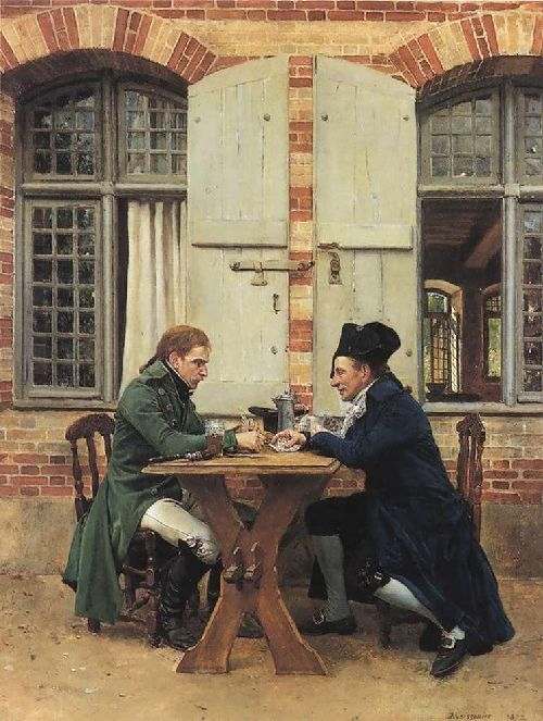 The Card Players   Jean Louis Ernest Meissonier   oil painting