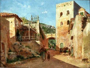Street Scene near Antibes | Jean Louis Ernest Meissonier | oil painting