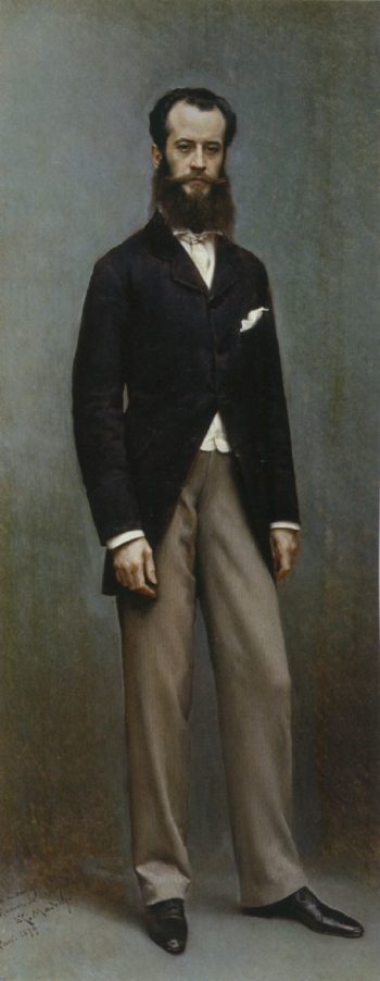 Portrait of Ramon de Errazu   Jean Louis Ernest Meissonier   oil painting